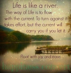 'Life is like a river. 