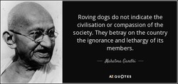 Roving dogs do not indicate the 