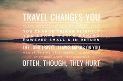 TRAVEL CHANGES YOU—ZS 