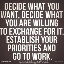 DECIDE WHAT YOU 