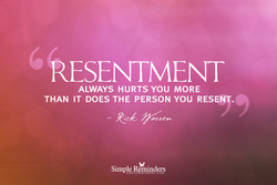 RESENTMENT 