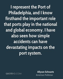 I represent the Port of 