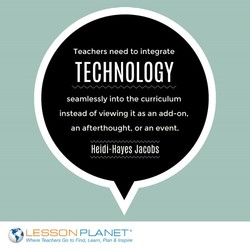 Teachers need to integrate 