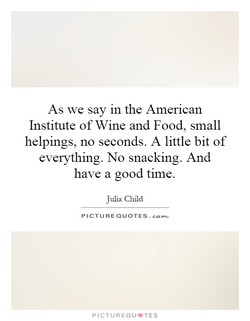 As we say in the American 