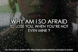 WHY AM I SO AFRAID 