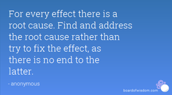 For every effect there is a 