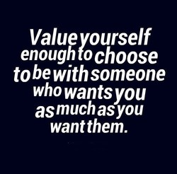 Value ourself 
