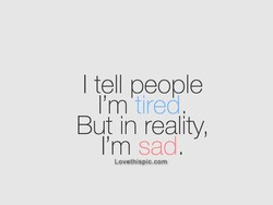 I tell people 
