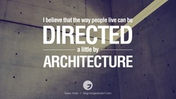 I believe that the way people live can 