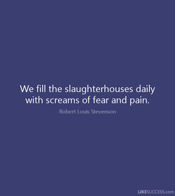 We fill the slaughterhouses daily 