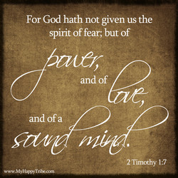 For God hath not given us the 