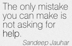 The only mistake 