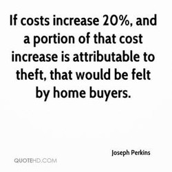If costs increase 20%, and 