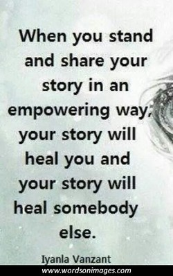 When you stand 