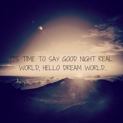 TIME TO SAY GOOV NIGHT REAL 