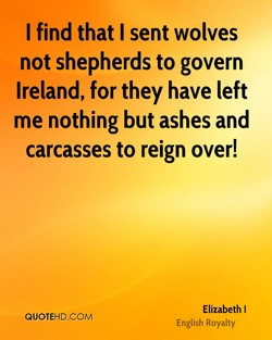 I find that I sent wolves 