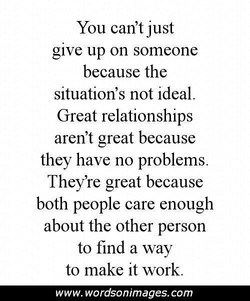You can't just 