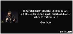 The appropriation of radical thinking by lazy, 