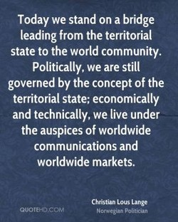 Today we stand on a bridge 