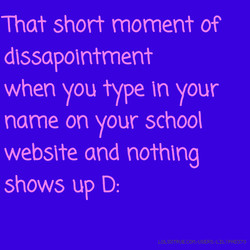 That short moment of 