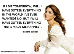 IF I DIE TOMORROW, WILL I 