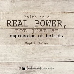 Faith is a 