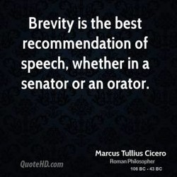 Brevity is the best 