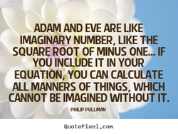 ADAM AND EVE ARE LIKE 