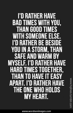 I'D RATHER HAVE 