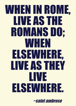 WHEN IN ROME, 