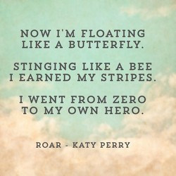 NOW I'M FLOATING 