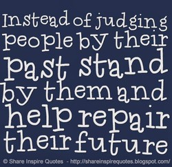 Instead of judging 