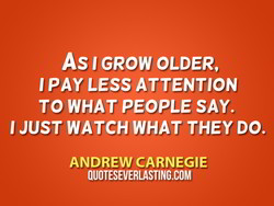 As I GROW OLDER, 