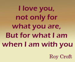 I love you, 