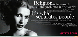 Religion is the cause of 