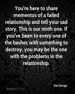You're here to share 