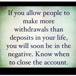 If you allow people to 