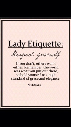 Lady Etiquette: 