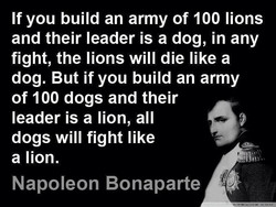 If you build an army of 100 lions 