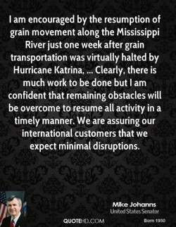 I am encouraged by the resumption Of 