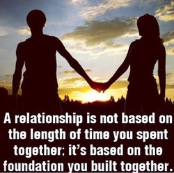 A relationship is not based on 