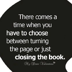 There comes a