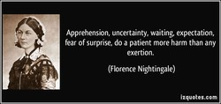 Apprehension, uncertainty, waiting, expectation, 