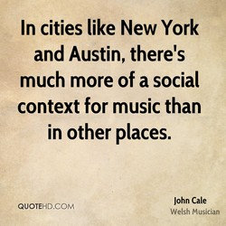 In cities like New York 