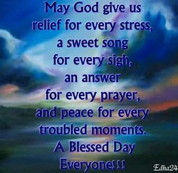 May God give us 