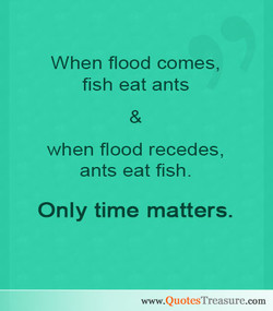When flood comes, 