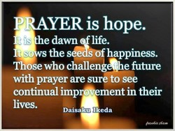 PRAYER is hope. 