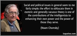 Social and political issues in general seem to me 