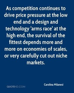 As competition continues to 