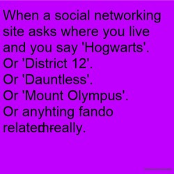 When a social networking 